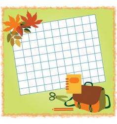 school notes vector image