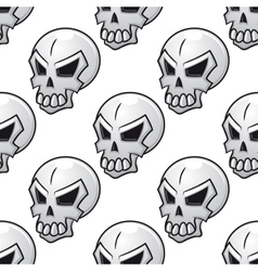 Seamless pattern with scary evil skull vector image