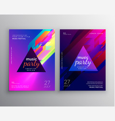abstract club music party flyer template design vector image