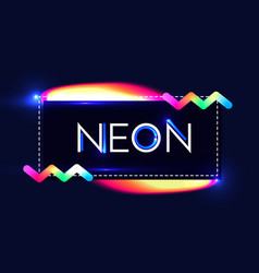 abstract trendy shining neon banner colorful vector image