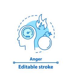 Anger concept icon vector