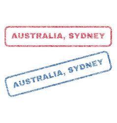 Australia sydney textile stamps vector
