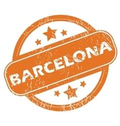 Barcelona round stamp vector image