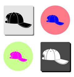 baseball cap flat icon vector image