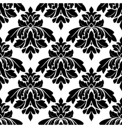 Black damask seamless pattern vector