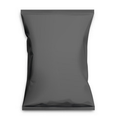 black realistic polyethylene bag vector image