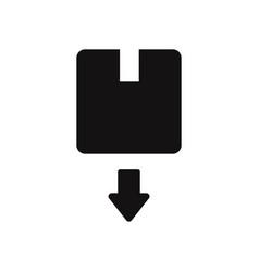box with down arrow icon vector image