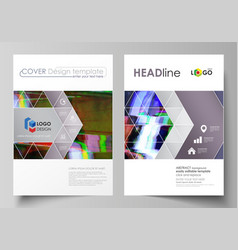 business template for brochure flyer report vector image