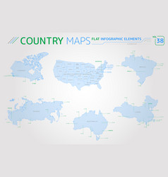 canada russia china united states brazil and vector image
