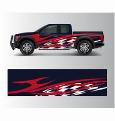 cargo van and car wrap truck decal designs vector image