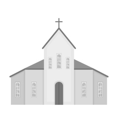 Church icon in monochrome style isolated on white vector image