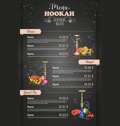 Color menu design vector