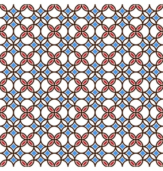 Colored seamless geometric pattern vector