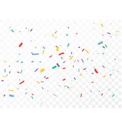 colorful confetti celebration banner design vector image