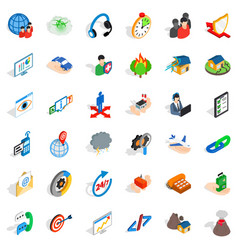 Commercial spot icons set isometric style vector