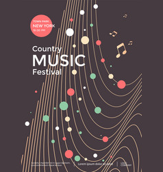 country music festival graphic poster design vector image