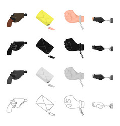 Criminal gloves picklock and other web icon in vector