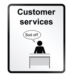 Customer Services Information Sign vector