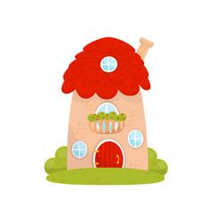 Cute small house fairytale fantasy house for vector