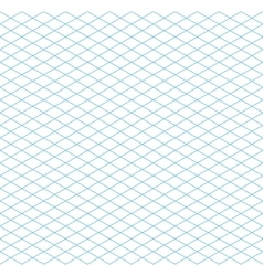 Cyan colour isometric grid seamless pattern vector image