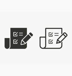evaluate - icon vector image