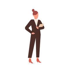 faceless business woman silhouette in fashionable vector image