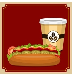 Fast food picture vector