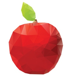 Geometric Red Apple vector