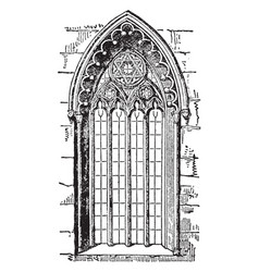 Gothic style window or romanesque architecture vector