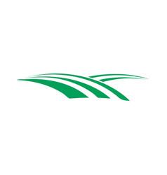 green field farm icon design template vector image