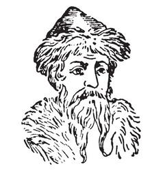 Gutenberg vintage vector