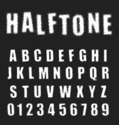 halftone alphabet font template letters vector image