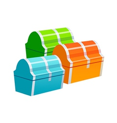 icon treasure box vector image