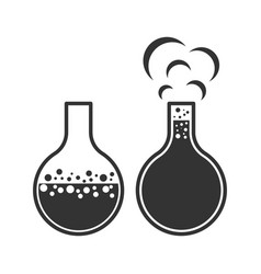 Image of bubbling bulb icons on white vector