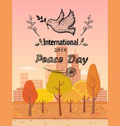 international peace day logo vector image