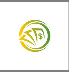 investment money logo with circle abstract vector image