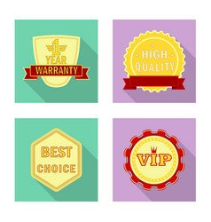 Isolated object emblem and badge logo set of vector