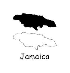 Jamaica map vector