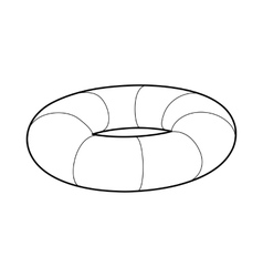 Lifebuoy icon in outline style vector image