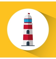 Light house nautical marine icon graphic vector