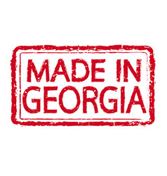 made in georgia stamp text vector image
