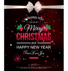 Merry Christmas typographical celebration concept vector image
