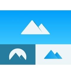 mountain logo design minimalictic mountain logo vector image