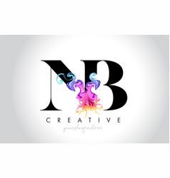 Nb vibrant creative leter logo design with vector