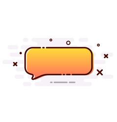 Orange gradient speech bubble on white background vector