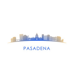 Pasadena skyline silhouette design colorful vector