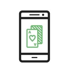 Phone Gambling vector image