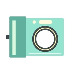 Portable camera flat icon vector