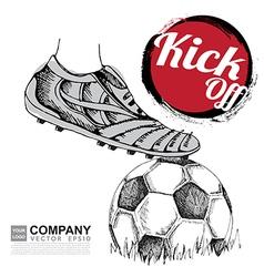 Poster design of soccer football vector