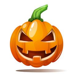 pumpkin horror fear happy vector image